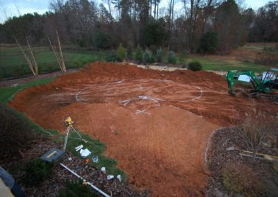 3. Pool location is established and layed out.