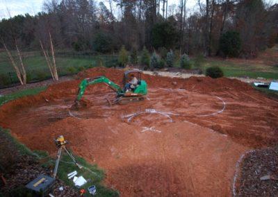4. Excavation begins.