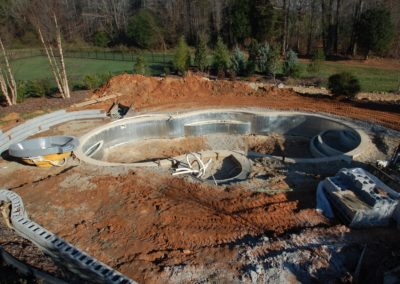 8. Concrete decking, or optional concrete border is poured.